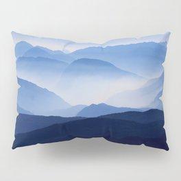Periwinkle Landscape Mountains Parallax Pillow Sham