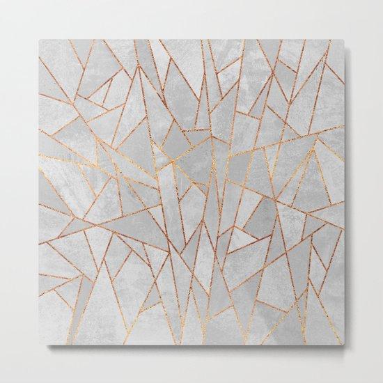 Shattered Concrete Metal Print