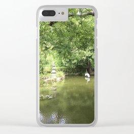 Japanese Tea Garden pond Clear iPhone Case