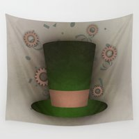 mad hatter Wall Tapestries featuring Mad Hatter by coalotte