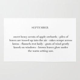 september poem Rug