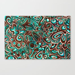 Jack Turquoise/Brown Canvas Print