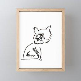 Furiosa the Three-Legged Cat Framed Mini Art Print