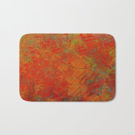 Bright Reds and Coppers Abstract Bath Mat