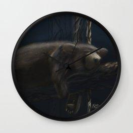 Sleeping Black Bear Wall Clock