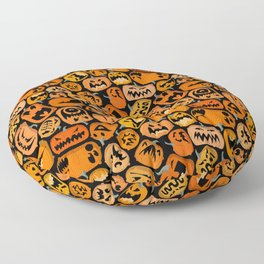 Pumpkin Brawl. Floor Pillow