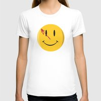 watchmen T-shirts featuring Who watches the watchmen?  by Vickn