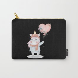 Unicorn With Balloon Carry-All Pouch