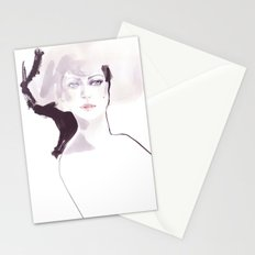 Fashion illustration in pale colors Stationery Cards