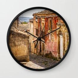 Sicilian Village Wall Clock