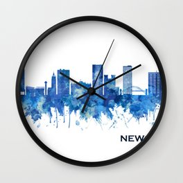 Newcastle UK Skyline Blue Wall Clock