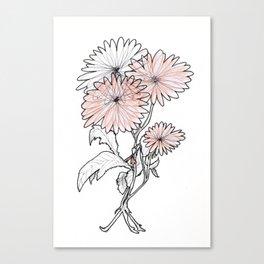 flower illustration Canvas Print