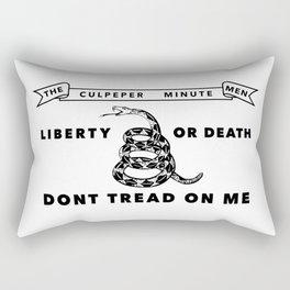 Culpeper Minutemen flag - Authentic version Rectangular Pillow