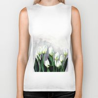 tulips Biker Tanks featuring Tulips by Bridget Davidson