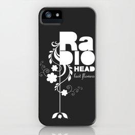 Radiohead song - Last flowers illustration white iPhone Case