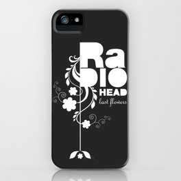 Radiohead song - Last flowers illustration white iPhone Case