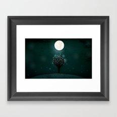 the midnight tree Framed Art Print