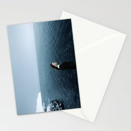 Girl ocean ice mountain Stationery Cards