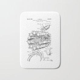 Jet Engine: Frank Whittle Turbojet Engine Patent Bath Mat