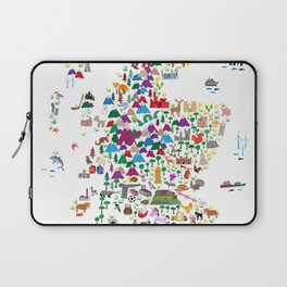 Animal Map of Scotland for children and kids Laptop Sleeve