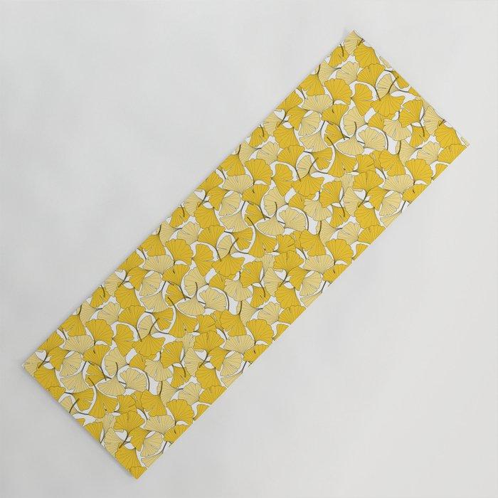 ginkgo leaves (yellow) Yoga Mat