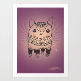 Jelly Fox Art Print