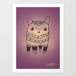 Jelly Fox Art Print