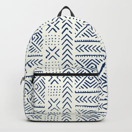 Line Mud Cloth // Ivory & Navy Backpack
