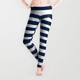 Navy-White ( Stripe Collection ) Leggings