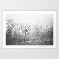Black and White Fog Art Print