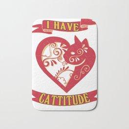 cattitude- Funny Cat Saying Bath Mat
