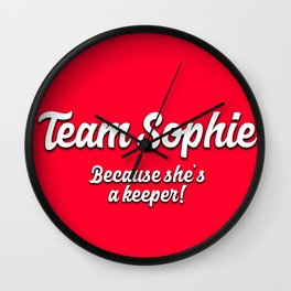Team Sophie Wall Clock