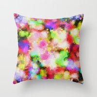 blush Throw Pillows featuring Blush by Glanoramay