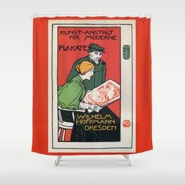 1896 Hoffman art printers Dresden Shower Curtain