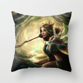 Solana - Spirit of Earth and Light Throw Pillow