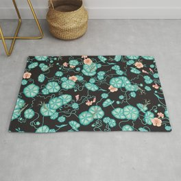 Mantises and Indian cress Rug
