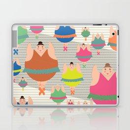 Synchronised Neon Ballarina Dancers Laptop & iPad Skin