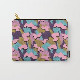 Memphis Pattern - Pink Carry-All Pouch