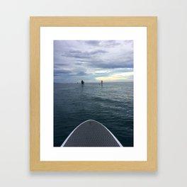EARLY MORNING RIDE Framed Art Print