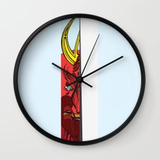 Strait Samurai Sword Wall Clock