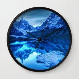 Mountains Reflection Wall Clock