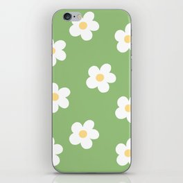 Retro 60's Flower Power Print iPhone Skin