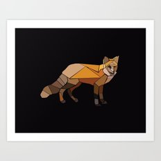Night Fox Art Print
