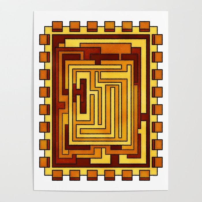 Sol - Geometric Art Deco Sun Poster