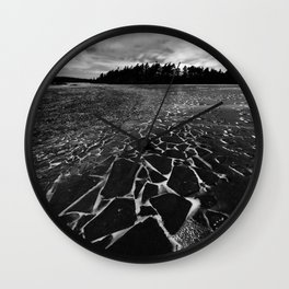 Broken Shards Wall Clock