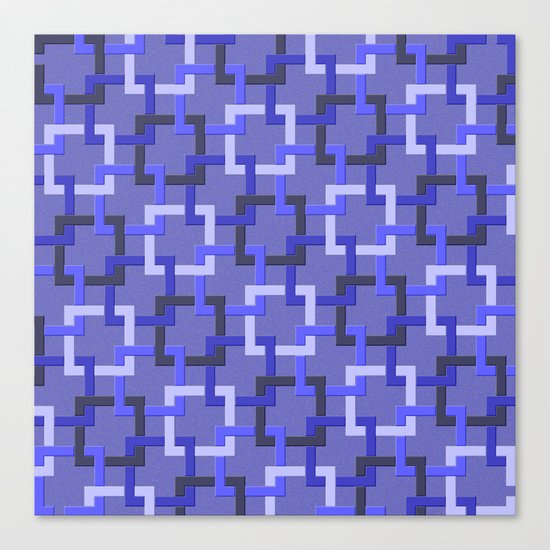 Linked Squares Canvas Print