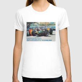 Gran Prix de Monaco, 1968, original vintage poster T-shirt