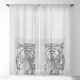 Tiger - Black & White Sheer Curtain