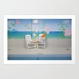 holly as me (indoor pool) Art Print