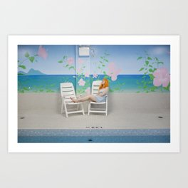 holly as me (indoor pool) Art Print